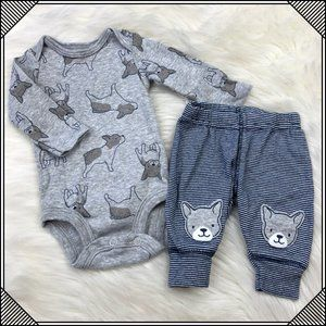 Other - * Newborn Infant Onesie Pants Set Dog Long Sleeve